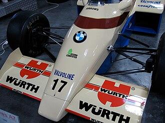 Revs (video game) - Car showing Acorn's logo, on display at the Sinsheim Auto & Technik Museum