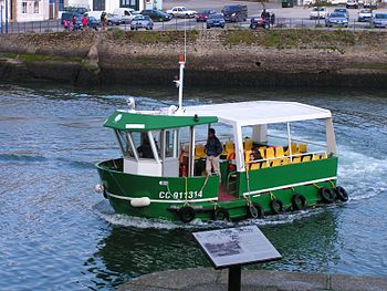 Ferryboat at the city of Concarneau. Brittany,...