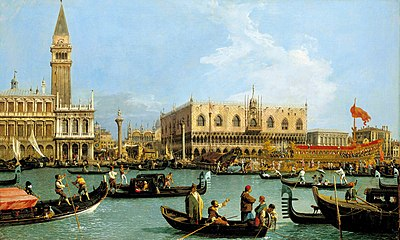 Canaletto, The Bacino di San Marco on Ascension Day, c. 1733–1734