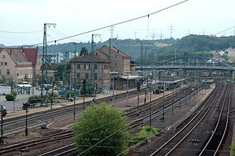 Württemberg Western Railway - The former border station of Mühlacker