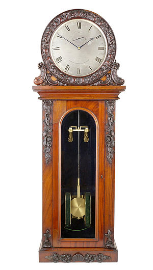 Electric clock - One of Alexander Bain's early electromagnetic clocks, from the 1840s