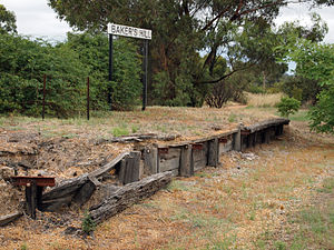 Bakers Hill, Western Australia - The remains of the station