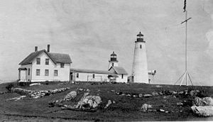 Bakers Island Light - A USCG photo circa 1925