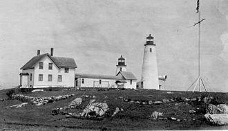 Bakers Island Light - A USCG photo circa 1925