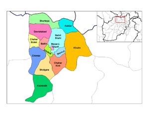 Districts of Balkh.