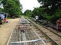 Bamboo train (Norry) station near Battambang in 2012.jpg