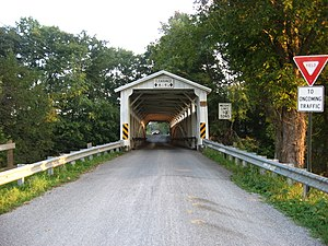 Banks Covered Bridge - Northern entrance to the bridge