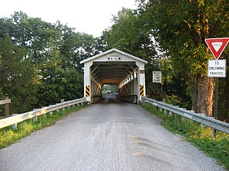 National Register of Historic Places listings in Lawrence County, Pennsylvania - Image: Banks Covered Bridge northern portal