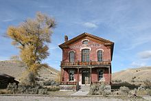2005 image of Hotel Meade in Bannack Historic District