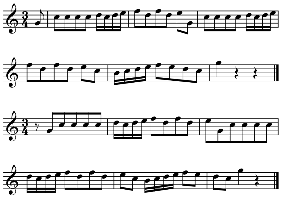 Bar-line shift on metric accent