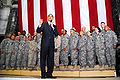 Barack Obama speaks to US troops at Camp Victory 4-7-09 2.JPG