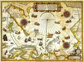 Willem Barentsz - Map of Willem Barentsz third voyage