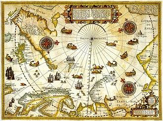 Albert I Land - Map of Willem Barentsz' 1596 expedition.