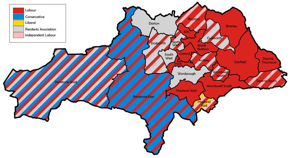Barnsley UK local election 1979 map