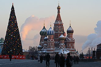 New Year tree - New Year tree on the Red Square. Moscow, Russia.