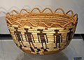 Basket, Yakima people, Washington, late 19th to early 20th century, coiled cedar root and bark, bear grass, horsetail root - Chazen Museum of Art - DSC01865.JPG