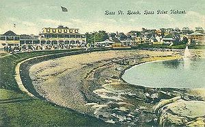 Nahant, Massachusetts - Bass Point Beach in c. 1910