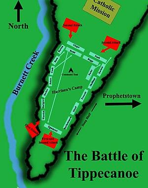 Battle of tippecanoe, battlefield map