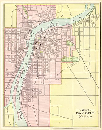 Bay City, Michigan - Bay City Street Map, 1898