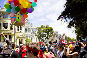 Bay to Breakers - House parties are present along the course.