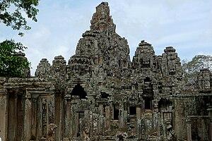 Bayonne temple, Angkor Thom, Siem Reap, Cambod...