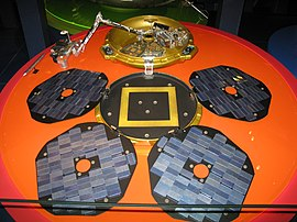 Replica of Beagle 2 at the London Science Museum.
