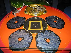 Colin Pillinger - Replica of Beagle 2 in the London Science Museum.