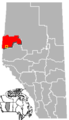 Beaverlodge, Alberta Location locator map.png