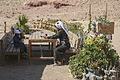 Bedouin having a tea in Petra, Jordan.jpg