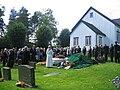 Begravelse AMoland kirke.JPG