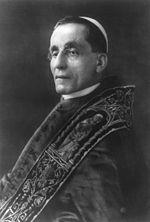 Photo du pape Benoît XV vers 1915.