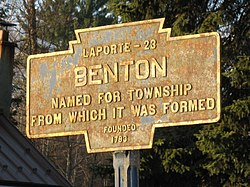 Official logo of Benton, Columbia County, Pennsylvania
