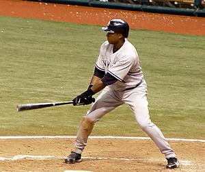 Bernie Williams - Bernie Williams at bat.