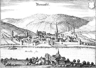 Bernkastel-Kues - Copper engraving after Matthäus Merian