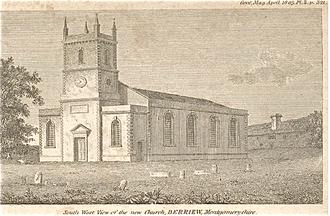 John Hiram Haycock - Berriew Church, Montgomeryshire