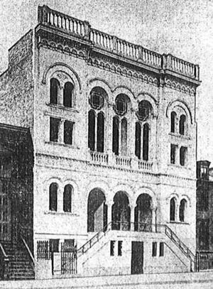 Congregation Beth Jacob Ohev Sholom - Beth Jacob Anshe Sholom synagogue on South Third Street in September 1906