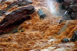 Betsiboka River - Rapids in the Betsiboka River