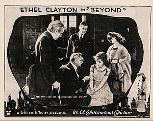 Beyond (1921 film) - Lobby card for film