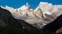 Bhagirathi group of Himalaya peaks Uttarakhand India.jpg