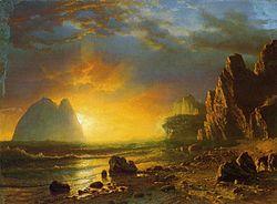 Albert Bierstadt: Sunset on the Coast