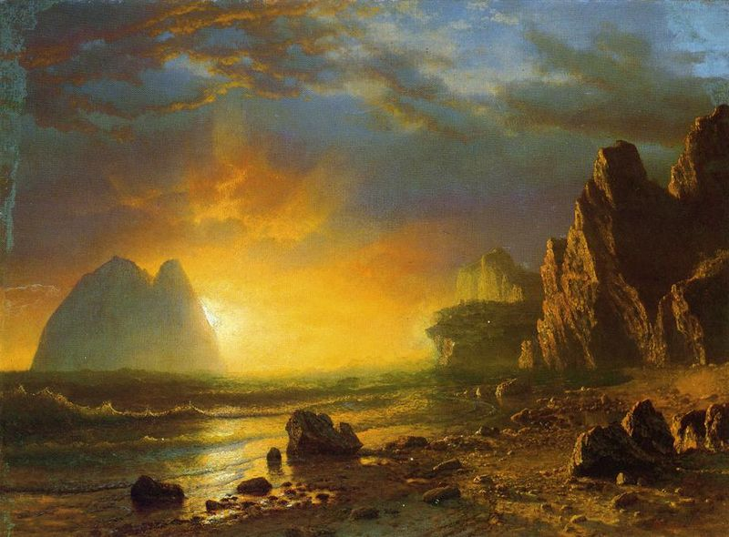 File:Bierstadt Albert Sunset on the Coast.jpg