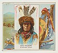 Big Razor, Blackfeet Sioux, from the American Indian Chiefs series (N36) for Allen & Ginter Cigarettes MET DP838931.jpg