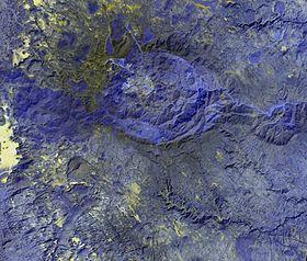Спутниковое изображение Бикку-Битти (внизу слева)