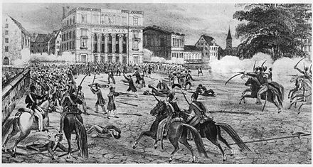 Fighting on the Paradeplatz