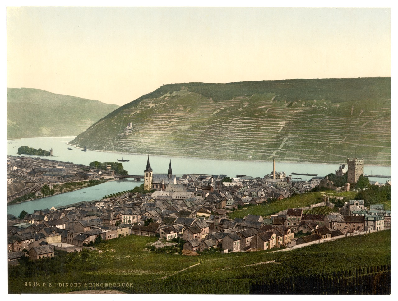 Bingen and the bridge, the Rhine, Germany-LCCN2002714061.tif