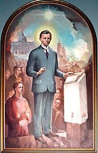 Bl Ivan Merz u Bazilici Srca Isusova 13 rujna 2008.jpg