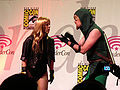 Black Canary & Green Arrow cosplayers at WonderCon 2010 Masquerade 2.JPG