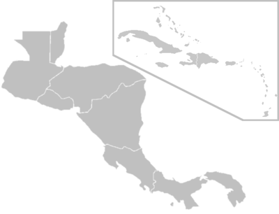 blank map of caribbean islands
