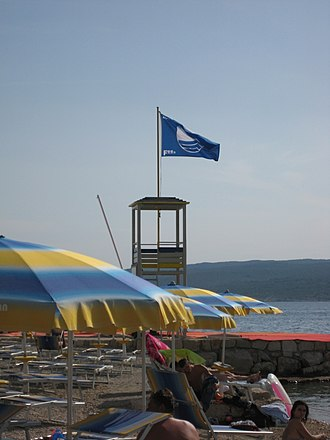 Blue Flag beach - Blue Flag beach in Selce, Croatia