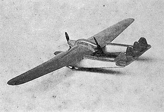 Blériot 125 - Wind tunnel model